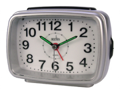 Acctim 13382 Titan 2 Silver Alarm Clock