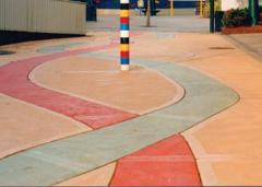 Toptint coloured concrete