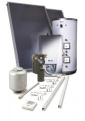 Solar thermal heating and hot water package