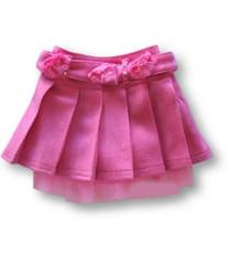 Butterscotch Satin Lined Pink Pleated Skirt