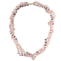 Pink and white cultured freshwater pearl necklet