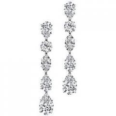 1.00 Carat H/SI2 18K White Gold Diamond Drop