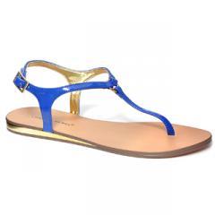 Gladdy Blue Ladies Flip Flops