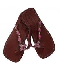 Pink Flower Kids Sandals