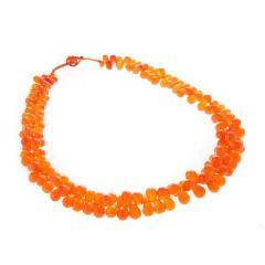 Cornelian Drop Necklace