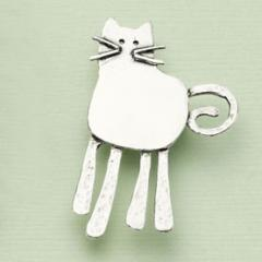 Cat's Whiskers Silver Brooch