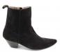 Vandini Veer 12 Winklepicker Boot Black Suede