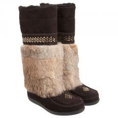 Brown Studded Original Mukluk Boots
