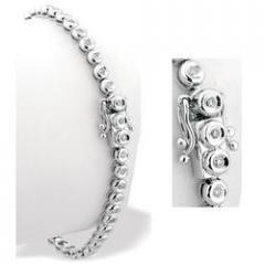 9K White Gold 0.50ct Diamond Line Bracelet