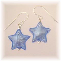 Sapphire star earrings