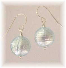 Ice blue earrings