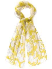 Amalfi Linear Leaf Silk Print Scarf