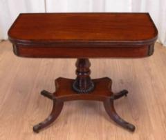 Antique Regency Card Table – Tea Table Cross