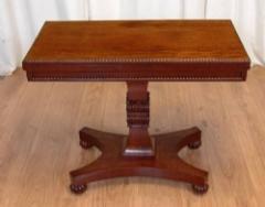 Antique William IV Mahogany Tea Table – Games