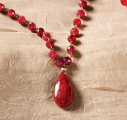 14K Ruby Teardrop Necklace