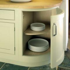 Maple veneer cabinet interior