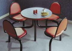 Discus upholstered fast food unit