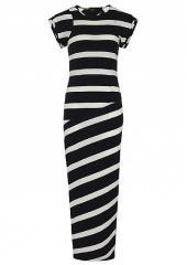 Striped maxi dress in Black Cream Mix