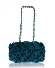 Fair Trade Turquoise Silk Corsage Bag