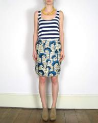 African Print Slim Skirt