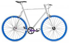 Track bike Silver-Blue