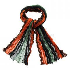 Green & Orange Silk Scarf