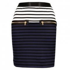 Markus Lupfer Kelly Zip Skirt Navy/Blue