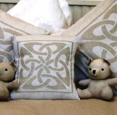100% Irish linen damask cushion covers Colleen