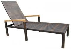 Similan Sun Lounger Brown with Cushion