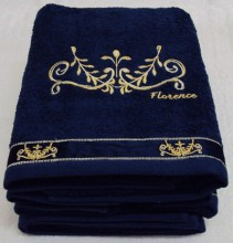 Florence Embroidered Towel