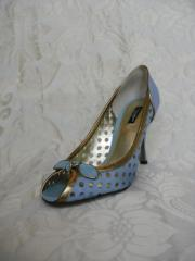 Dolce & Gabbana Baby Blue Peep-Toes
