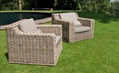 Wicker Cushion Armchair