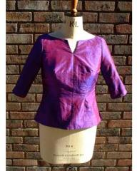 Purple silk top