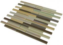 Murano Brown Interlocking Glass Mosaic
