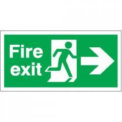 Fire Exit (Running Man & Arrow Right) Signs