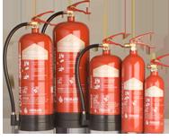 Foam spray extinguishers