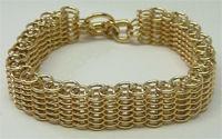 Thin YG Victorian Bracelet