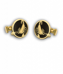Black Enamel Scorpion Cufflinks
