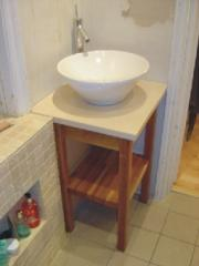 Solid Oak Stand With Marble Top