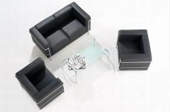 Cube Seating Black Leather