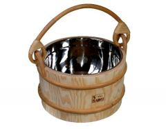 Stainless Steel Lined Sauna Bucket 7 Litre