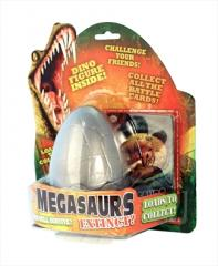 Megasaurs dinosaur egg with trading cards