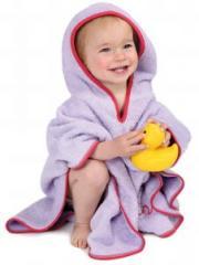 Poncho towel lilac/cherry