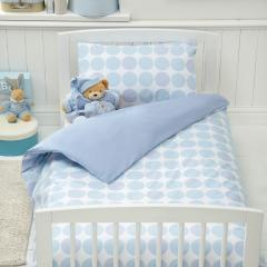 Polka Cotbed Duvet Cover and Pillowcase Set