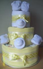 Twins baby shower Nappy Cakes