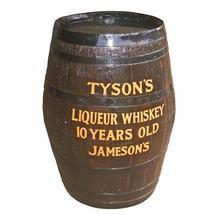 Oak barrel 56 gallons hogshead - painted