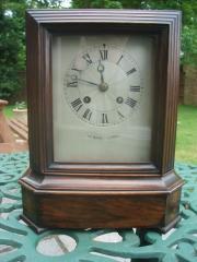 French Rosewood striking mantel clock