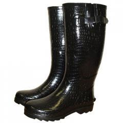 Black Crocodile Wellies, Funky, Fashion Wellies