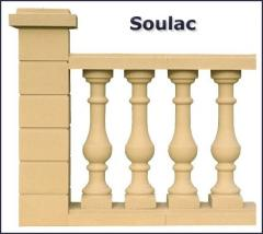 Soulac cast stone baluster