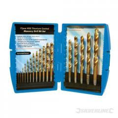 Titanium Coated HSS Drill Bit Set 17pce - 633829